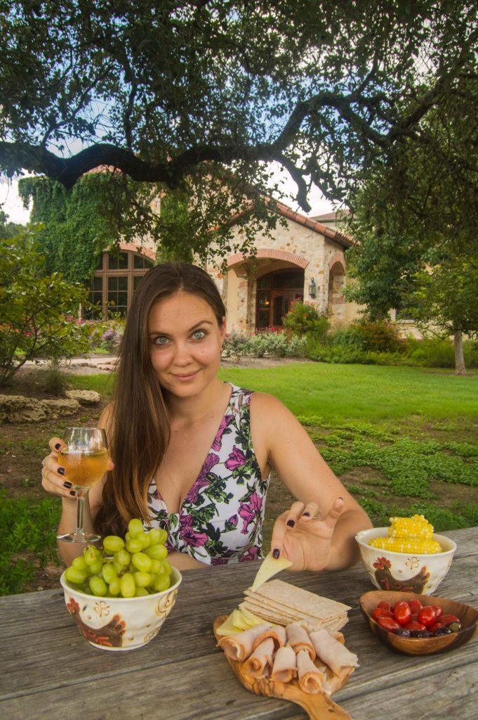 trying Texas wine