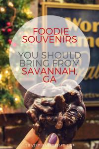 Foodie souvenirs you should bring from Savannah, GA!