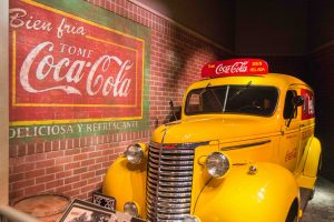 visiting world of coca cola