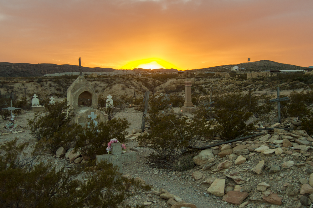 terlingua ghost town sunset