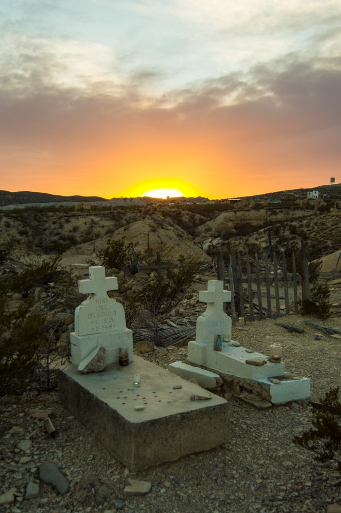 terlingua sunset over cemetery