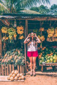 sri lanka road side fruit stall