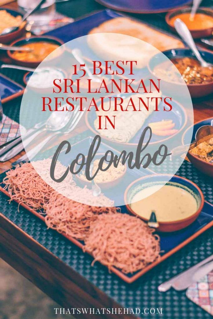 Sharing my favorite restaurants serving Sri Lankan food in Colombo! #SriLanka #Colombo