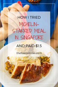 MICHELIN star meal singapore