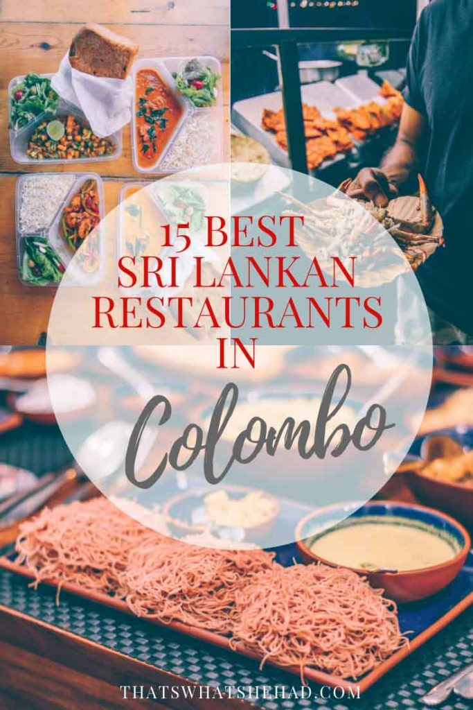 15 best Sri Lankan restaurants in Colombo and what to order there! #SriLanka #Colombo
