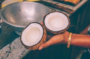 breaking coconuts sri lanka