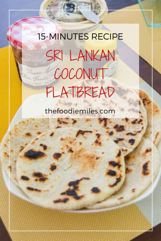 15 minutes recipe for sri lankan coconut flat bread