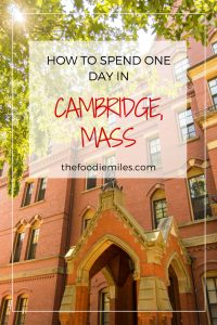 Cambridge Mass one day guide
