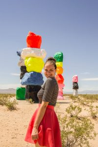 seven magic mountains installation