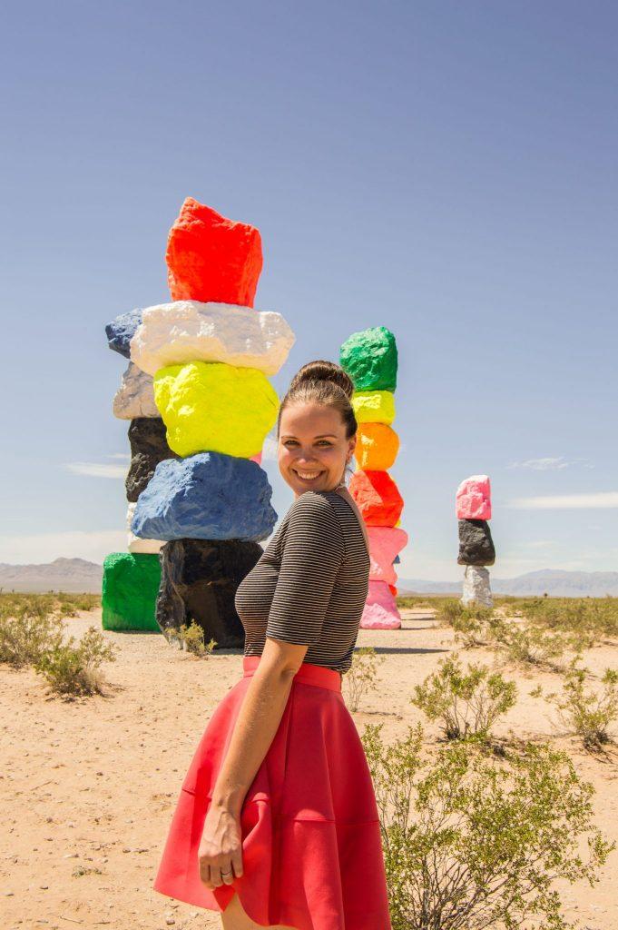 seven magic mountains installation