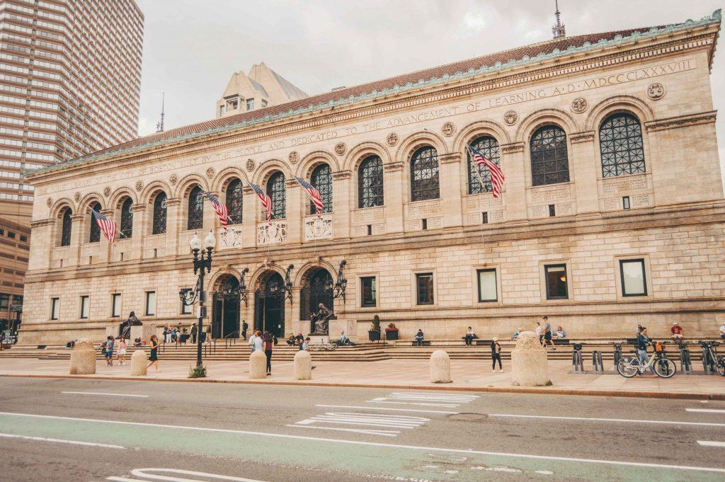бостонская общественная библиотека