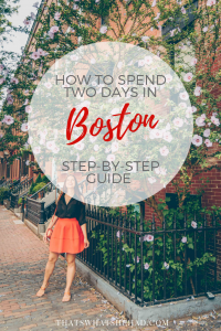 How to spend two days in Boston! Click on pin to read the most detailed, step-by-step guide to Boston! #Boston #Massachusetts