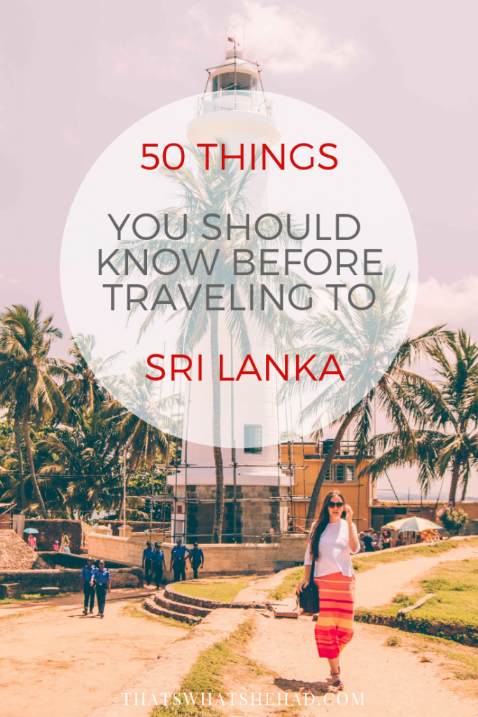 50 Important Tips for Traveling in Sri Lanka | That's What She Had