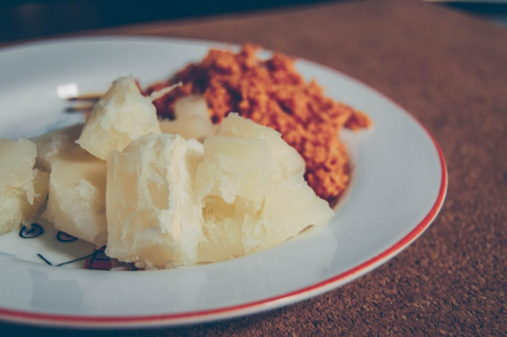 boiled manioc