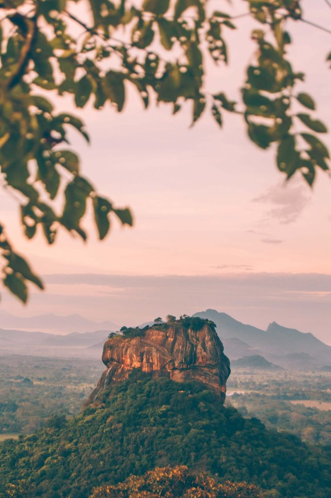 sigiriya rock view from pidurangala