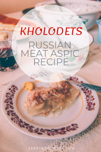 Russian holodets