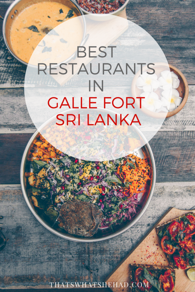 10 of the best restaurants in Galle Fort, Sri Lanka, and what to order there! #SriLanka #Galle #GalleFort