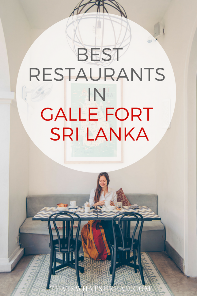 10 best restaurants in Galle Fort, Sri Lanka, and what you should order there! Click on pin to see the list or save for later. #SriLanka #Galle #GalleFort