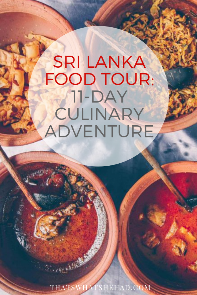 11-days culinary tour of Sri Lanka! Let's eat our way through this amazing island! Join us on a culinary adventure of a lifetime! #srilanka #alandlikenoother #srilankanfood #srilankatour