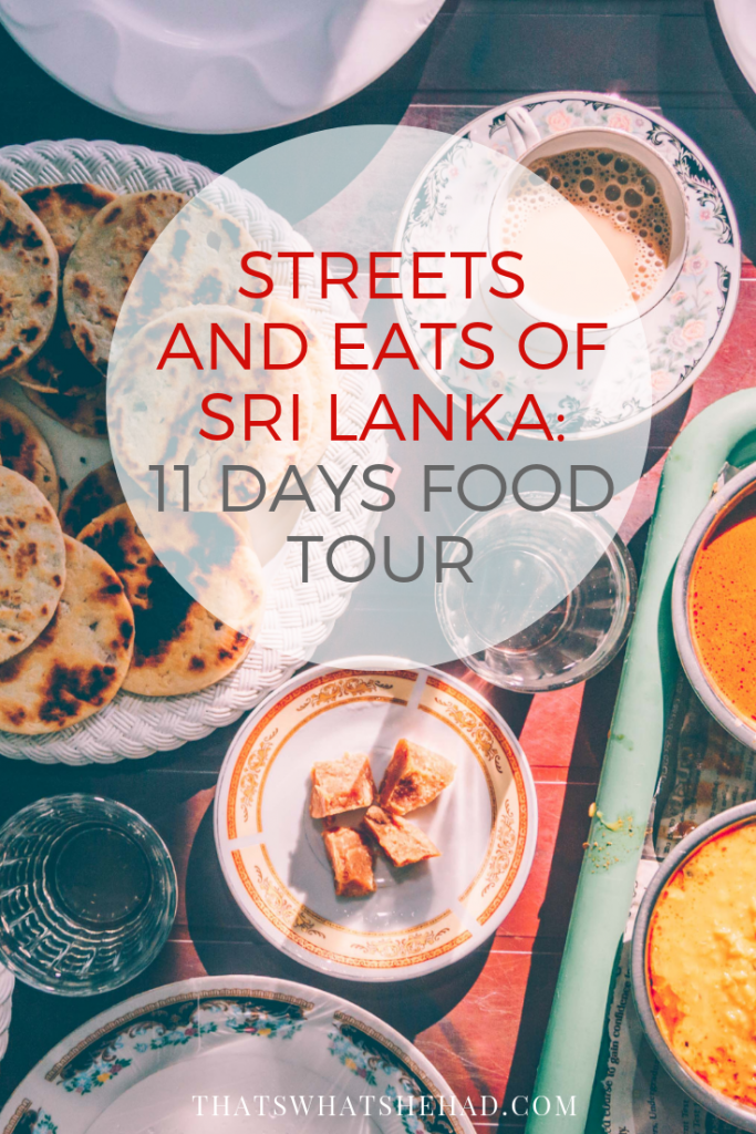 After living on the island for the past 8 years I am sharing my favorite hidden gems and delicious bites on an 11-day food tour! We'll visit fish markets and coconut plantations, try rtraditional rice and curry and modern Sri Lankan cuisine, cook hoppers with our own hands, and so much more! Click to read all the details! #srilanka #foodtour #srilankatour #gastrotour