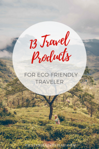 Eco travel made easy with these 13 essential products! From reusable snack bags to toiletries to safe sunscreen — everything you need for sustainable travel! #ecotravel #sustainabletravel #ecotravelproducts