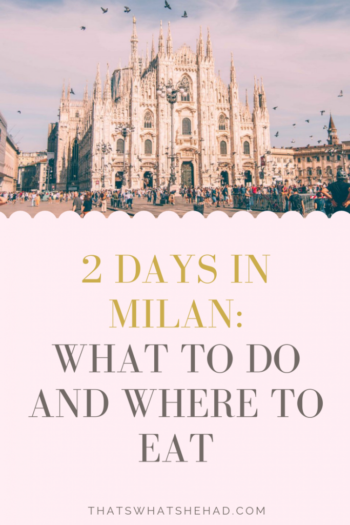 The complete guide to 2 days in Milan: best things to do, great (locals-approved) restaurants along the way, and hidden gems of Milan! Bonus: day trip to Lake Como if you have 3 days. #Milan #MilanItaly #MilanGuide #MilanItinerary