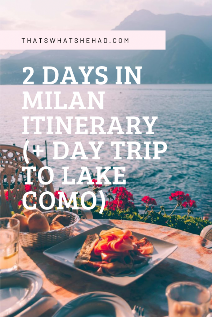 How to spend 2 days in Milan: the best sights to visit, the most delicious foods to try along the way, and a few hidden gems! + how to visit Lake Como if you have 3 days in Milan! Click on pin to check my custom guide or save for later! #Milan #MilanItaly #MilanGuide #MilanItinerary