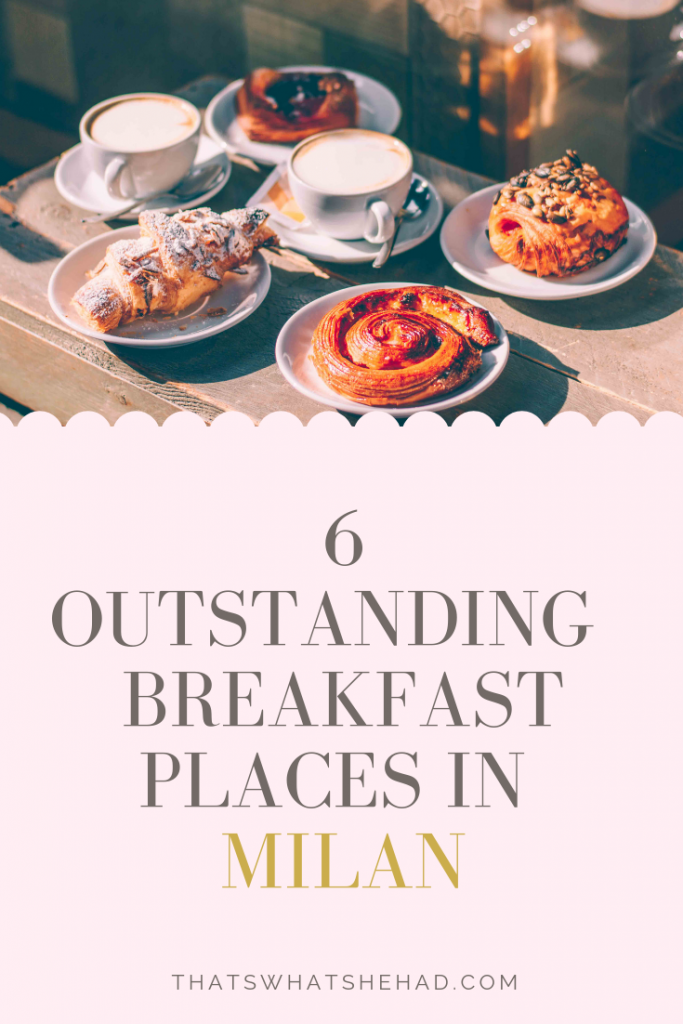 6 best restaurants in Milan that serve outstanding breakfast. Wondering where to have breakfast in Milan like an Italian? I got you. Here are 6 places that I tried and loved on my trip to Milan (+bonus! 5 more places that come highly recommended by locals). #Milan #MilanFood #MilanRestaurants #MilanItaly #WhereToEatInMilan