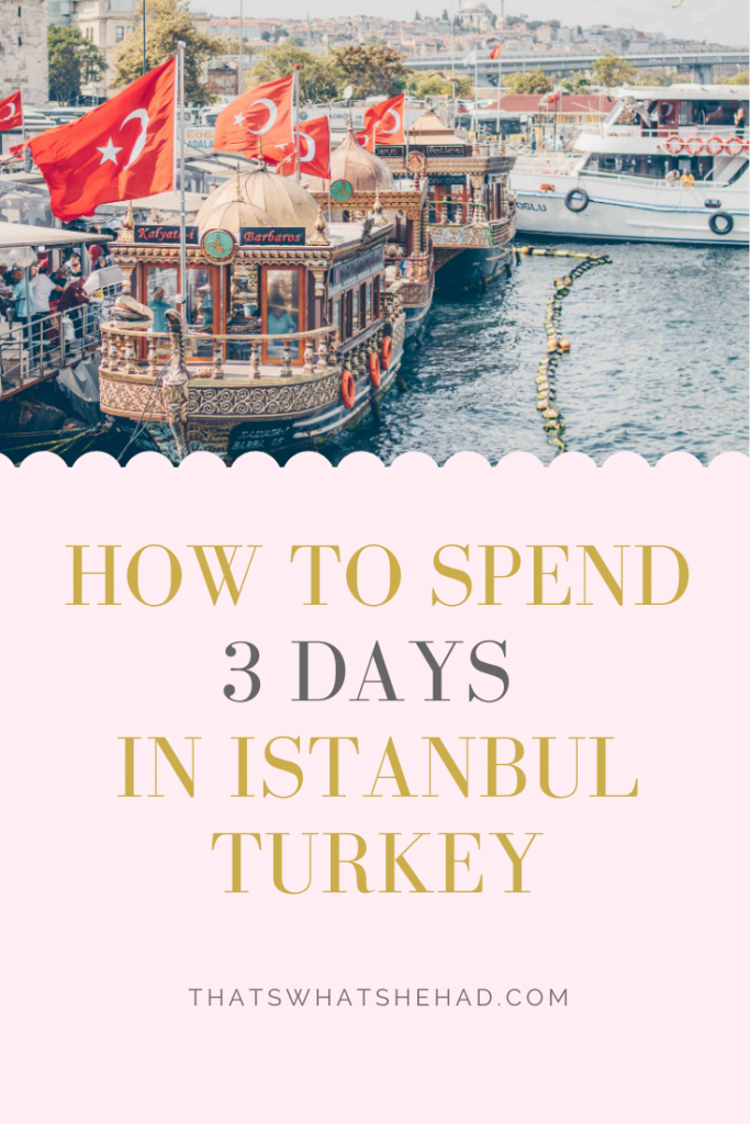 How to spend 3 days in Istanbul, Turkey, if it's your first visit! A step-by-step itinerary that will take you through the most popular attractions, off-the-beaten track sights, and amazing restaurants! #Istanbul #IstanbulTurkey #BlueMosque #Galata #IstanbulTravel #ThingsToDoInIstanbul