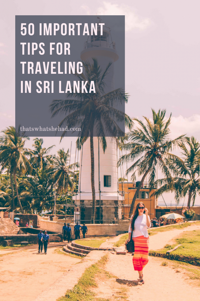 50 things you should know before traveling to Sri Lanka! From safety to visa to transport — all you need to know about Sri Lanka! #srilanka #visitsrilanka #srilankatips