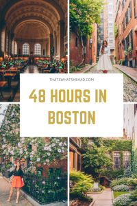 2 days in Boston: what to do and where to eat! Follow this guide to see popular sights, explore hidden corners, and eat the most delicious food! #Boston #BostonMassachusetts #BostonRestaurants #BostonItinerary #BostonGuide