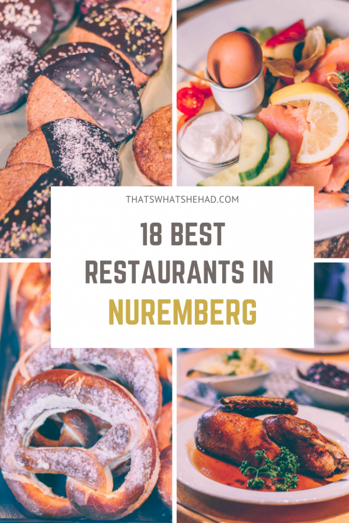Where to eat in Nuremberg, Germany: 18 best restaurants recommended by a local! Find out where to get pretzels, traditional Nuremberg sausage, Franconian specialties, and more! #Nuremberg #Nurnberg #NurembergFood #NurembergGermany