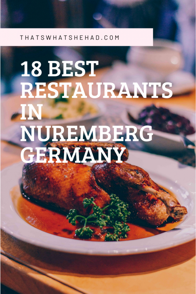 The 18 best restaurants in Nuremberg, Germany, according to a local! From German food to ethnic restaurants to the best coffee in town — here's your guide to Nuremberg food and drinks! #Nuremberg #Nurnberg #NurembergGermany