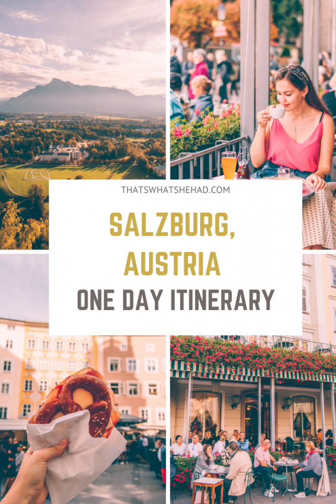 One day itinerary for Salzburg! Follow this guide to enjoy Salzburg at its best: most popular things to do and the best Austirian food along the way! #Salzburg #Austria #SalzburgAustria #SalzburgFood