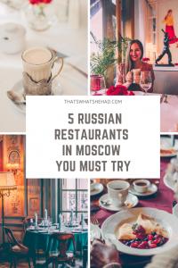5 restaurants in Moscow that serve outstanding Russian food! #Moscow #Russia #MoscowRestaurants #RussiaFood #RussianFood #RussiaTravel