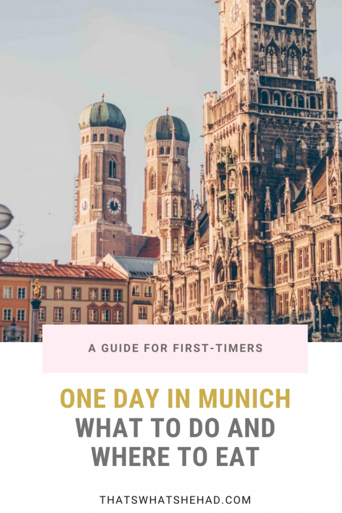 One day in Munich, Germany: the best sights to see and the most delicious foods to try! #Munich #Germany #GermanyTravel #Munchen #MunichThingsToDo #MunichFood