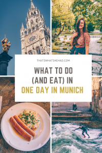 Munich, Germany, in one day: best things to do in the capital of Bavaria and the most delicious specialties to try along the way! From the main square to the popular food market to the most famous beer hall in the world — we'll cover it all in only 24 hours! #Germany #GermanyTravel #Munchen #MunichThingsToDo #MunichFood #Munich