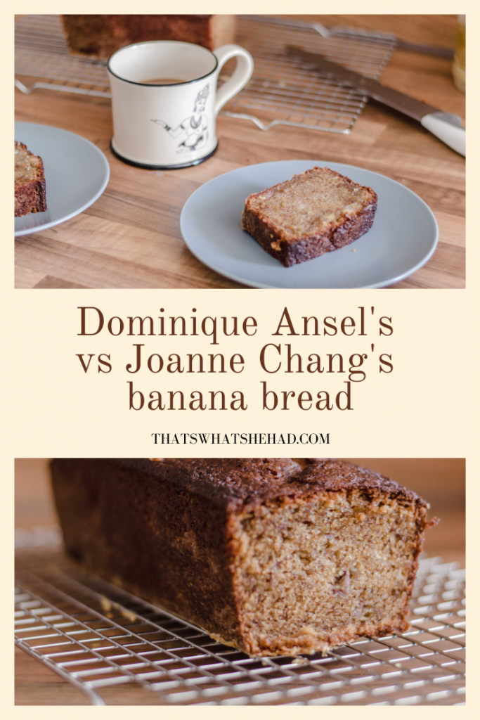 I made both Dominique Ansel's and Joanne Chang's (Boston's Flour Bakery) banana breads. Here's what happened! #bananabread #DominiqueAnsel #FlourBakery