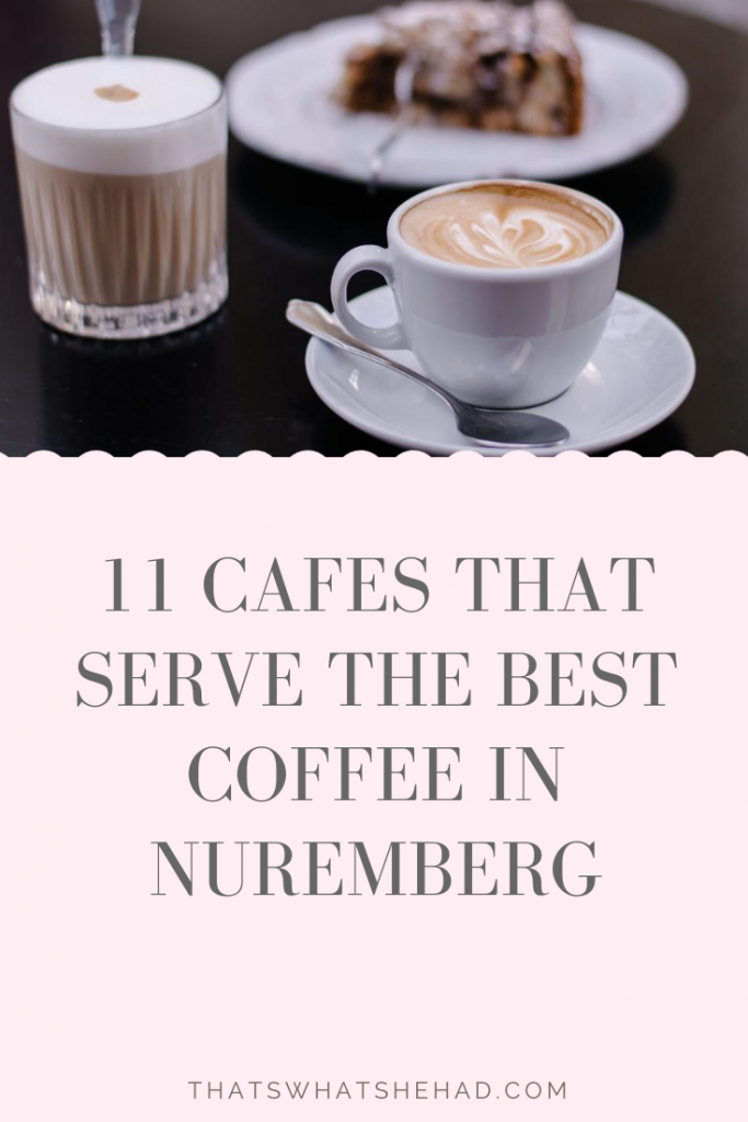 11 cafes that serve outstanding coffee in Nuremberg, Germany: from third-wave coffee shops to cafes with the best views for people-watching to the cafes with wi-fi (believe me, not that common for Germany). Click on pin to read or save for later! #Nuremberg #NurembergFood