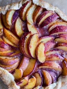 peach galette baked by benji