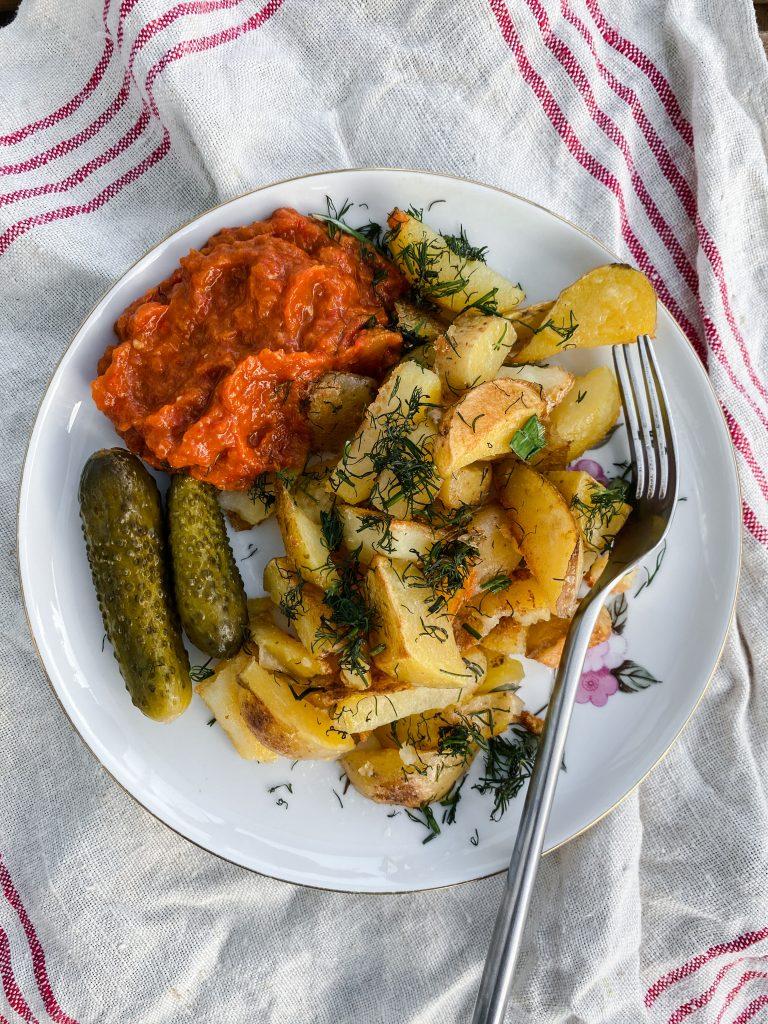 potatoes-with-eggplant-dip