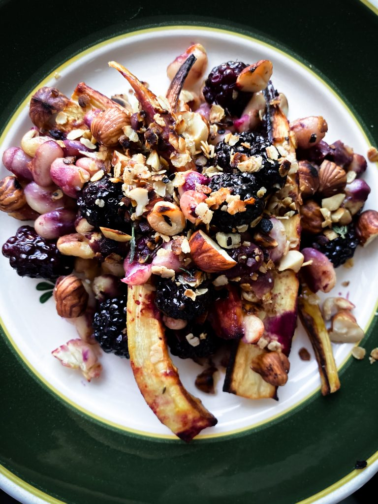 parsnip-beans-blackberry-bake
