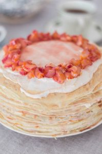 crepe cake close up