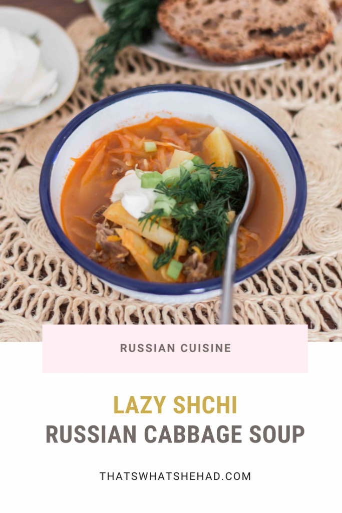 One of the most popular soups in Russia, shchi is not too complicated to make, but is incredibly cozy, filling and heartwarming. #soup #cabbage #russianfood #shchi