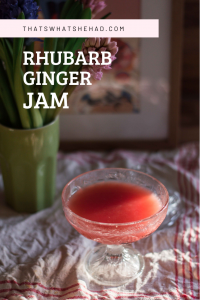 Spicy rhubarb and ginger jam, perfect to make summer spritz or to pour over pancakes and oats. #rhubarb #spicy #jam