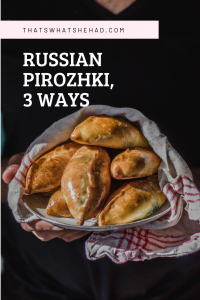 Russian pirozhki (also spelled piroshki) are small pies made of yeasted dough that come with a variety of fillings. They can be baked or fried and are perfect when served with sweetened black tea or a glass of milk. In the recipe, I'll show you how to make 3 different fillings for pirozhki: spring onion and egg, meat and rice, potato and onions.