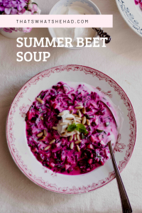 Summer beet soup, or as it is called in Russia - Svekolnik, is a perfect meal for hot summer days. Once the beets are boiled, the soup comes together in a matter of minutes. #Russia #RussianFood #Soup #BeetSoup #Beet #Beetroot