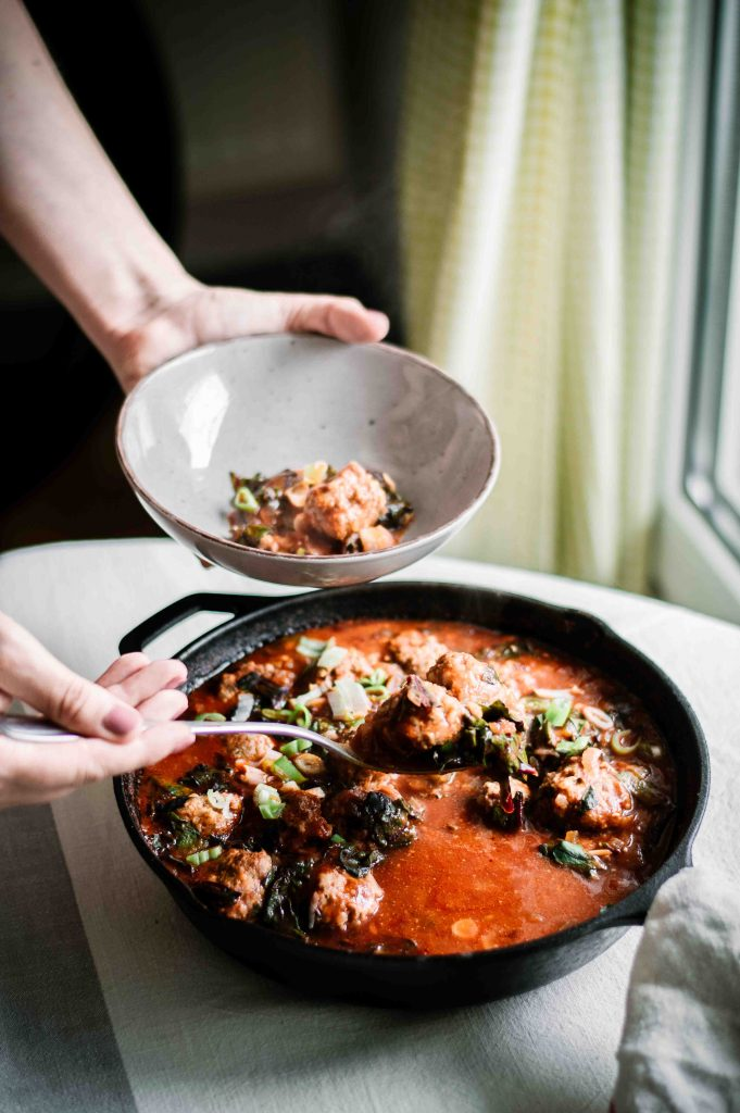 russian-meatballs-with-beet-leaves